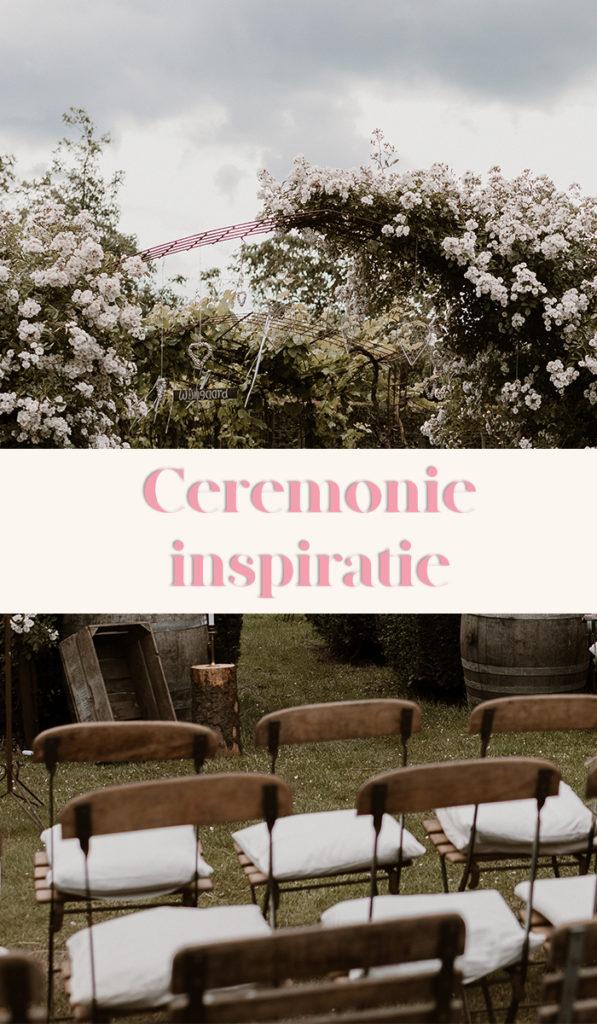 Cermemonie inspiratie